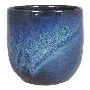 Jardinière en céramique RILIND, brillante, bleu espace, 13cm, Ø14cm