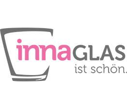 Bouteille / Vase carré en verre KAYRA, rose transparent, 6x6x13,5cm